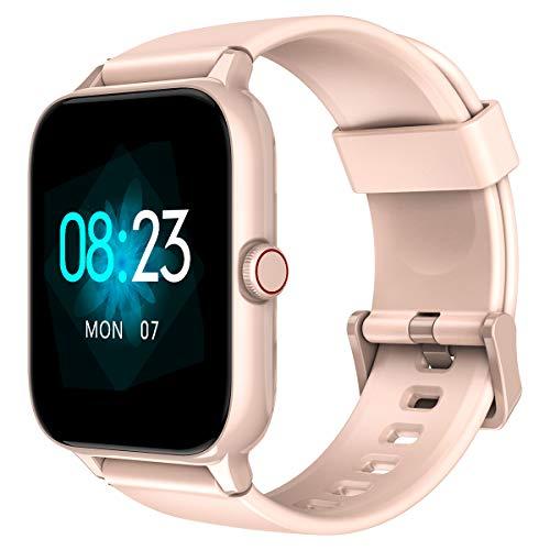 Blackview R3Pro Smartwatch 1,5' Touch Schermo, Orologio Digitale Fitness Tracker Uomo Donna, 12 Modalità Sportive, Impermeabilità IP68, Cardiofrequenzimetro e Monitoraggio del Sonno, Contapassi, Rosa