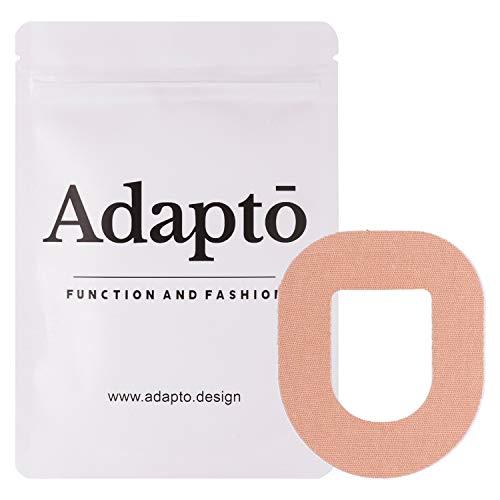 Adapto Omnipod Klebepflaster | Für Diabetes-Sensor | Wasserfest, hypoallergen | 10er-Pack, Hautfarbe