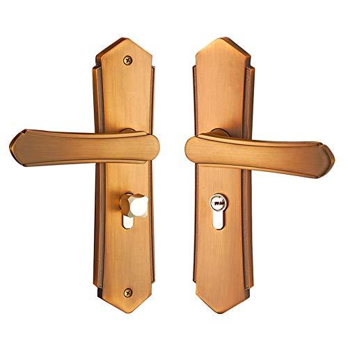 Manilla de Puerta Pestillo con Cerradura de Interior y Exterior de Acero Inoxidable, Juegos de Tirador de Puerta con Llave y Accesorios, Cerradura de Seguridad Para el Hogar