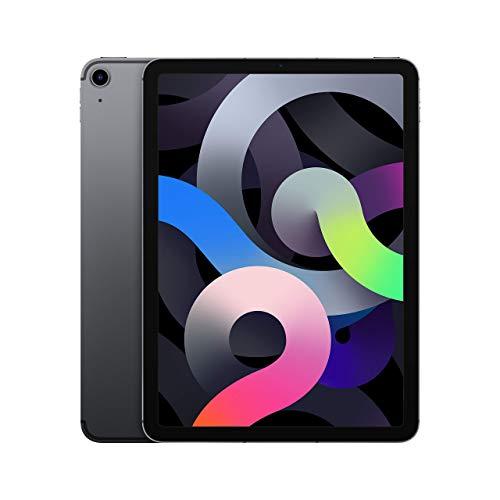 New Apple iPadAir (10.9-inch, Wi-Fi + Cellular, 64GB) - Space Grey (Latest Model, 4th Generation) (Renewed)