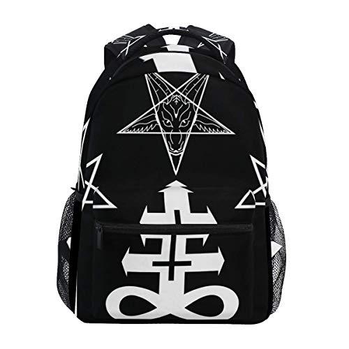 VLOOQ-HX Stilvoll Rucksack mit Gothic Occult Evil Symbol Print Rucksack-Leichte School College Reisetaschen 16 X 11,5 X 8 Zoll