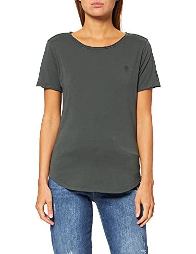 G-STAR RAW Mysid Option Slim C Camiseta, Gris (Graphite C506-996), L para Mujer