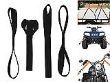 ZYTC Suave Bucle del Lazo Correas de Amarre de Motocicleta Correa de Trinquete Correas de Sujección Cinta para Remolque ATV Acarreo de Remolque de la Motocicleta, 4 Unidades(Negro 18 Pulgadas)