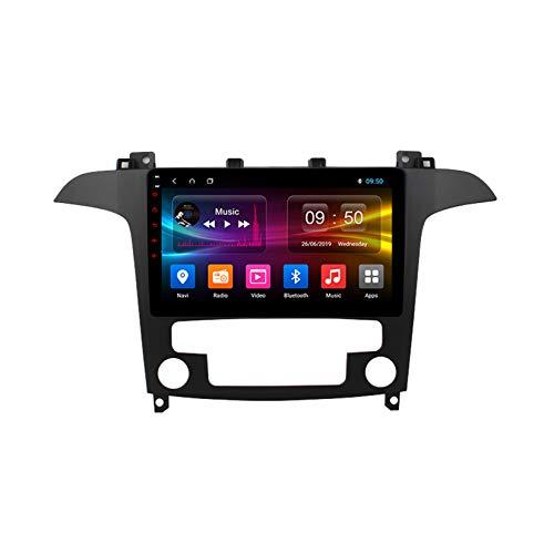 TypeBuilt Autoradio GPS Navigazione Music 9' 1080P HD Touch Multimedia per Ford S-Max S Max 1 2006-2015,Stereo Auto Bluetooth Chiamate in Vivavoce Radio con Lettore USB FM AM RDS Stereo,At,PX5
