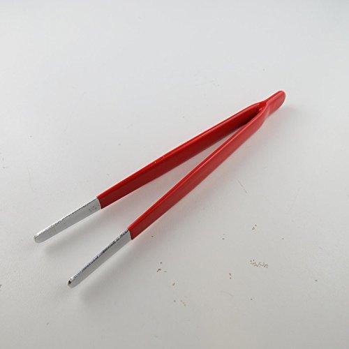Unbekannt 1x Pinzette Elektronik Uhrmacher Modellbau/Art=Spitzpinzette 150mm gerade mit isolierten Griff