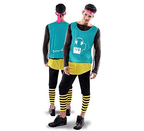Disfraz de Aerobic ochentero verde para Hombre