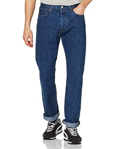 Levi's 501 Original Fit Jeans, Blu Stonewash, 31W / 34L Uomo