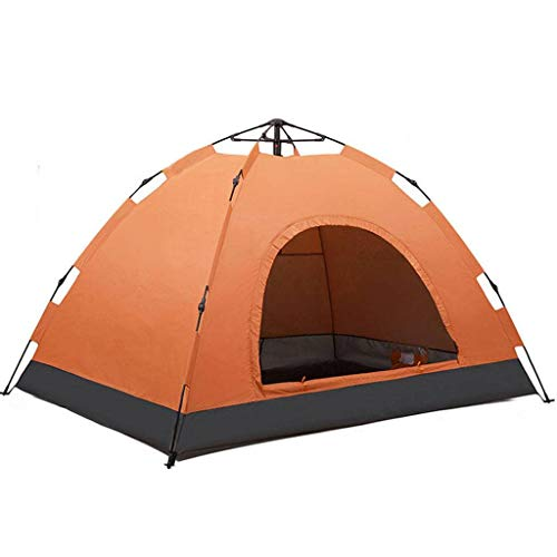 HUNOL Outdoor Camping Tent, Foldable Pop Up Tent Tent for 3-4People Outdoor Camping-A