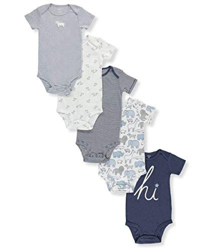 Carter's Pack de 5 monos para bebé-niños 6 meses Azul hola