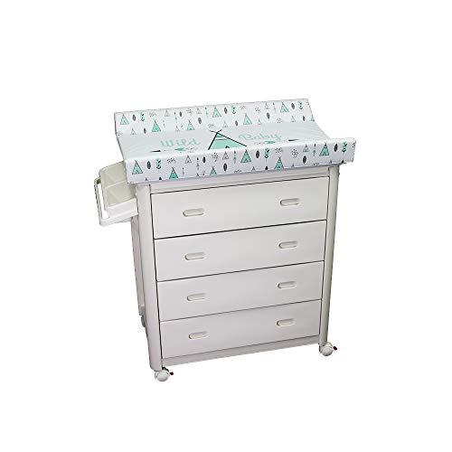 Plastimyr Bañera con Cajones y Cambiador para Bebé Estampado, Unisex, 5970094 Tipys Mint