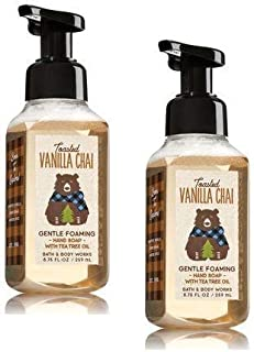 Bath and Body Works 2 Pack Toasted Vanilla Chai Gentle Foaming Hand Soap. 8.75 Oz.