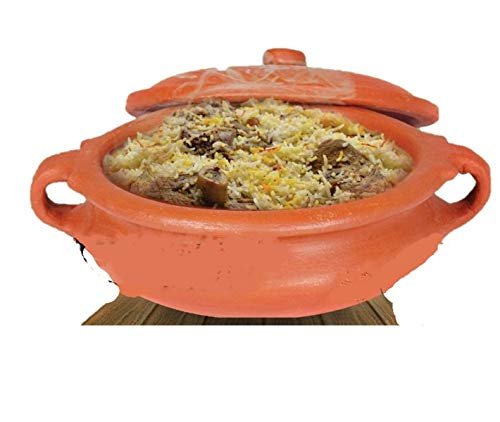Anjali Clay Cookware - Cook - N - Serve 8' South Indian Clay Pot