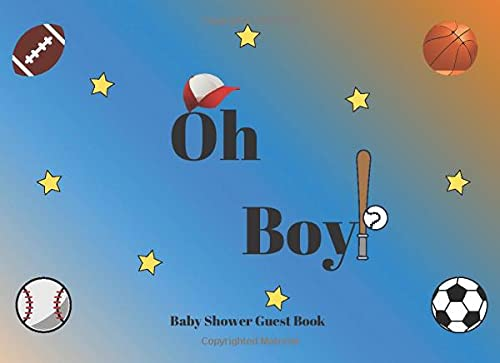 Oh Boy! Baby Shower Guest Book