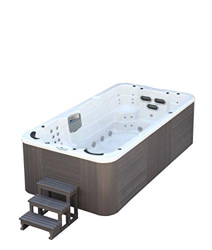Trade-Line-Partner Jacuzzi-piscina de exterior, 400x 230cm, para 8personas