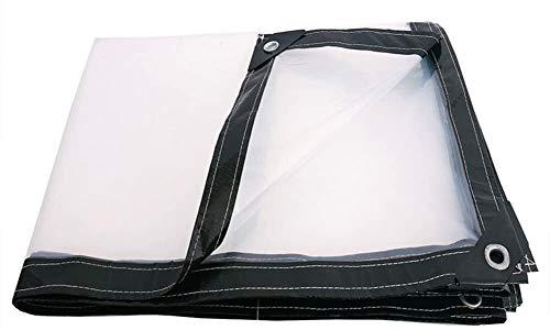 YUEDAI Transparente Impermeable Lona Lona Tierra Sheet Covers Carpa Toldo plástico Shed Cloth Ultraligero Heavy Duty Reforzado, múltiples tamaños, 120 G/M² (Color : Transparent, Size : 4x5m)