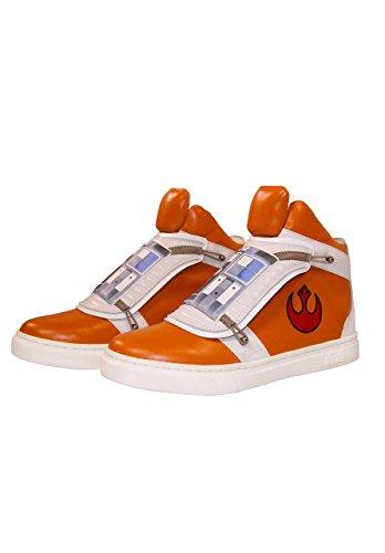Musterbrand Star Wars Sneakers Unisex Skywalker X-Wing High-top Flap Closure Rebel Pilot Design Orange 46
