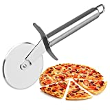 MOSTATTO Pizza Cutter Wheel, 304 Stainless Steel Pizza Cutter, Super Sharp Pizza Slicer-Rocker with...