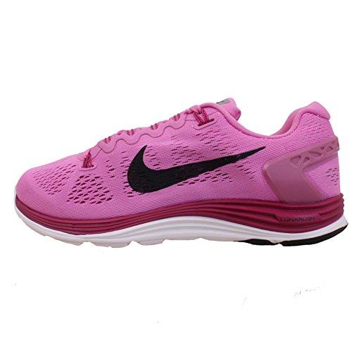 Nike Schuhe Kinder Jungen Damen Lunarglide+ 5 Rd VLT/blk pn-Brght MGNT-PRL p, Größe 5