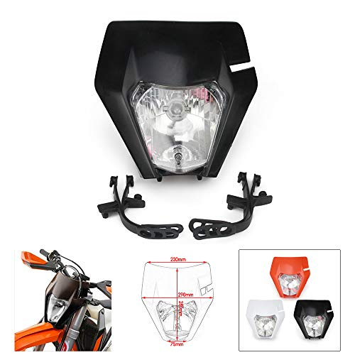 JFG Racing Feu de Phare de Moto pour Moto K.T.M EXC250 SX250 SXF250 EXC450 SX350 SXF450 EXC525 640LC4 Dirt Bike Enduro ATV Scooters