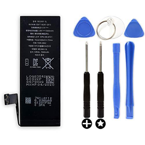 Bateria Interna Compatible con Apple iPhone 5S + Kit Herramientas/Tools | Capacidad Original