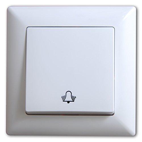 Schalterprogramm Gunsan Visage weiß (Klingeltaster Taster-Klingel Unterputz)