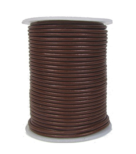 11 yards Brown Natural Dye Distressed Round Leather Cord 1.0mm 10 meters
