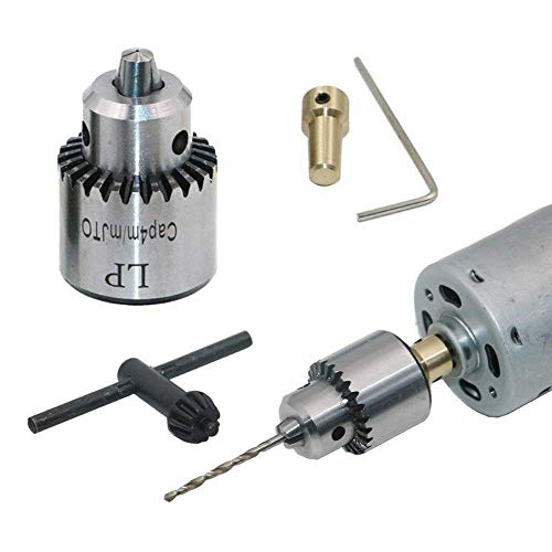 Mini mandrino elettrico da 0,3-4 mm, mano portatile palmare mandrini trapano conico montato tornio per albero motore