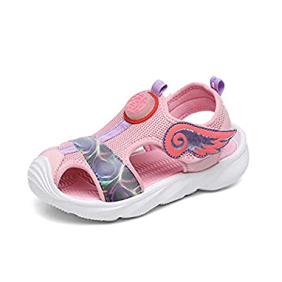 UBFEN Girls Sandals Summer Outdoor Beach Shoes Kids Sports Quick-Drying Non-Slip Closed Toe Sneakers