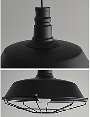 PIAOLING Nordic Retro Industrial Hanging Kronleuchter, Creative Pot Cover, Persönliches Restaurant Bar Cafe Lighting ( Color : Black )