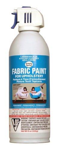 Simply Spray Upholstery Fabric Spray Paint 8 Oz. Can Caribbean Blue by Simply Spray