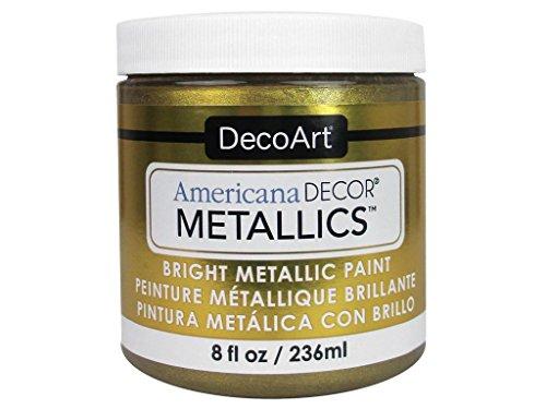 DecoArt Ameri Deco MTLC VintBrass Americana Decor Metallics 8oz VintagBrass, 8 Fl Oz