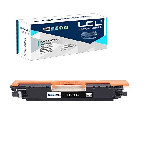 LCL Remanufacturado Cartucho de Tóner 126A 130A CE310A CF350A (1 Negro) Reemplazo para HP Laserjet Pro CP1020 CP1025 CP1025nw Laserjet 100 Color MFP M175 M175nw M175a M175n M175w Laserjet Pro 200