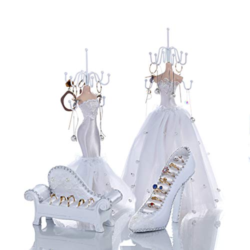 ZXCY Vestido De Novia Princesa Soporte De Exhibición De Joyería Zapatos De...