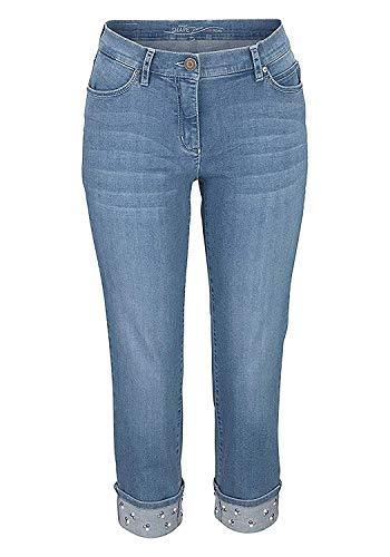 Toni Jeans Caprijeans Damen 3/4 Perfect Shape in Blue Bleached (36)