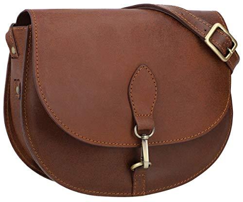 Gusti Umhängetasche Damen Leder -Wiebke Handtasche Ledertasche Schultertasche Damen kleine Tasche crossbody bag Echtleder Braun