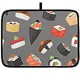 Estera de secado de platos para cocina, comida japonesa, sushi,...