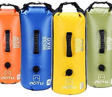 Sac à Dos 30L L Sac étanche Dry Camping & Randonnée/Escalade/Course Extérieur Etanche Jaune/Bleu/Orange/Olive PVC AOTU/??