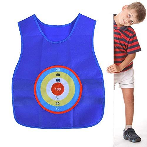 Alomejor Sticky Ball Jersey Interaktive Weste Sticky Ball Spielen im Freien Werfen Sticky Target Collective Game für Kinder Kinder Outdoor Fun Sports Toy(Blau)
