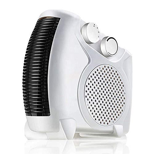 Langyinh elektrische radiator, draagbaar, recht en vlak, met 2 warmtestanden/bescherming tegen oververhitting, ideaal voor ontvangst en kantoren, geluidsarm,