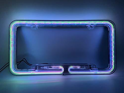 neon light license plate frame - 5