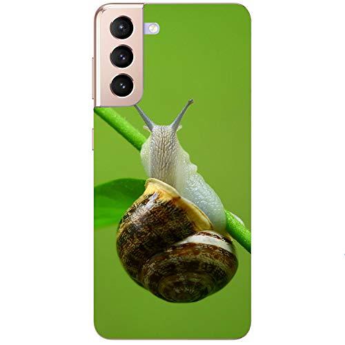 printhafen.de Funda de silicona para cualquier modelo posible – Caracol – Carcasa trasera protectora – Tipo de paquete del cliente: con protector de pantalla, tamaño: compatible para iPhone 11 pro