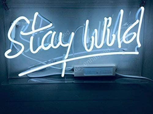 Amymami Beer Challenge the lowest price of Japan Bar 14in Stay Wild WhiteNeon Acrylic Light Sign Ranking TOP1 Ha