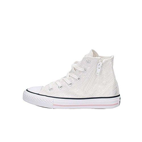 CONVERSE junior sneakers alte 352691C ALL STAR HI ZIP 33 Bianco