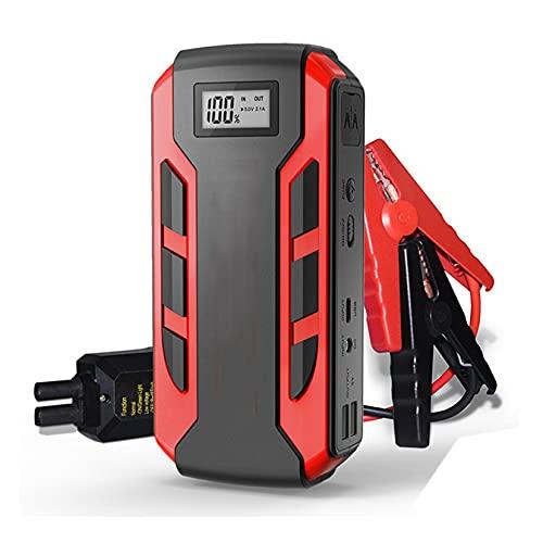 LBYDXD Arrancador de Coche, Aumentador de presión de la batería del Coche del Litio del Pico 12000mAh 12V 1500A, Cargador de Coche con Pantalla LED, Linterna Led Puertos USB