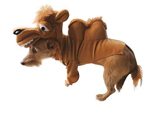 Seruna Hund-e Kostüm-e Kamel FH02 Gr. L, Hunde-Bekleidung klein mittel groß Faschings-Kostüm für Haus-Tiere Karneval-s