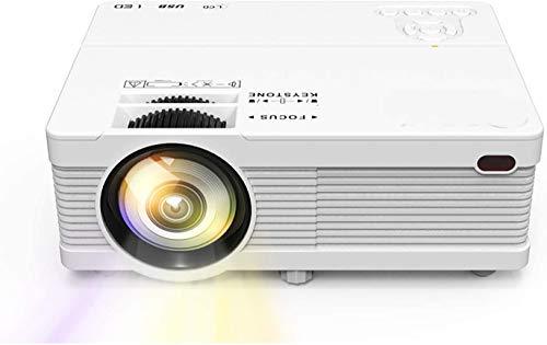 Projecteur 1080P Prise en Charge Vidéoprojecteur 720P Natif Mini Rétroprojecteur Compatible HDMI VGA USB AV TF Prise Casque Multimédia Home cinéma