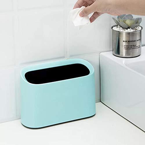 Gaddrt - Papelera de escritorio ovalada de plástico resistente a las roturas, tamaño pequeño, portátil, para almacenamiento de basura