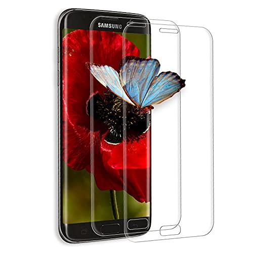 [2 pezzi] Vetro temperato per Samsung Galaxy S7 Edge, [3D copertura completa], 9H durezza, anti-bolle, HD Clear, anti-impronte, pellicola in vetro temperato per Samsung S7 Edge – (trasparente)