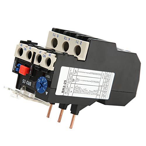 relé de protección,Relé de sobrecarga térmica CPN BR2-25 50-60hz 7-10A,Relé de protección de calor eléctrico,Relé de protección del motor,Reinicio manual automático,Protección de interrupción de fase