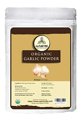 Naturevibe Botanicals USDA Organic Garlic Ground Powder 1lb | Raw, Gluten-Free & Non-GMO | Healthy Spice | Adds Flavor and Taste [Packaging May Vary]